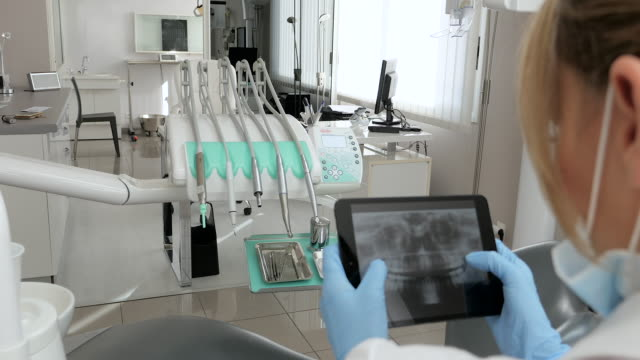 dental imaging on tablet - radiologist stock videos & royalty-free footage