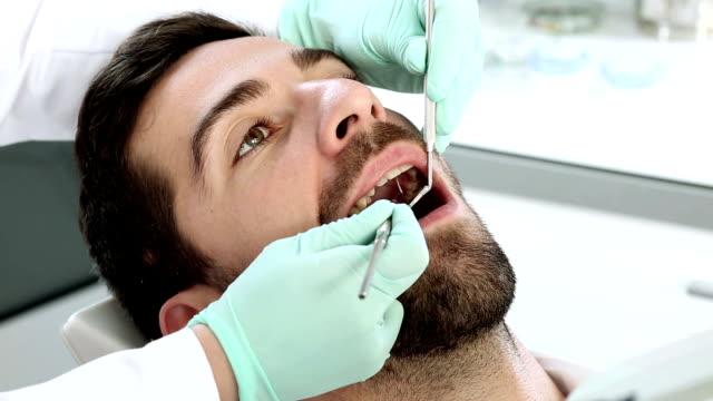 procedura dentale - dentista video stock e b–roll