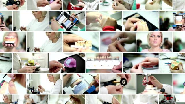 dental prosthetic. video wall. - dental health stock videos & royalty-free footage