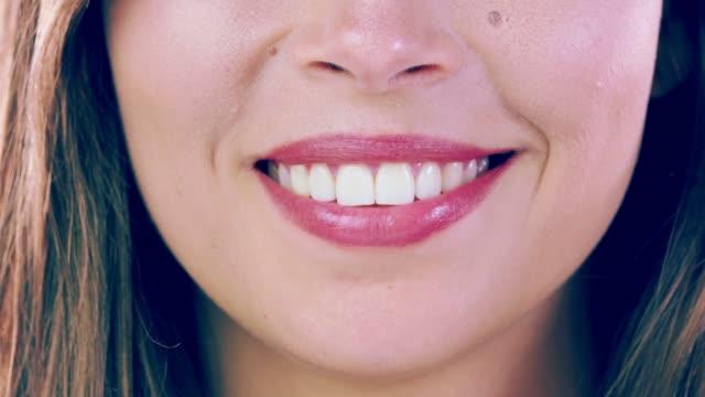 dental white smile - caucasian ethnicity stock videos & royalty-free footage