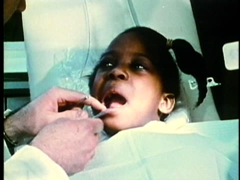 montage, dentist and doctor's offices, 1960's, detroit, michigan, usa - 1960 1969 stock-videos und b-roll-filmmaterial