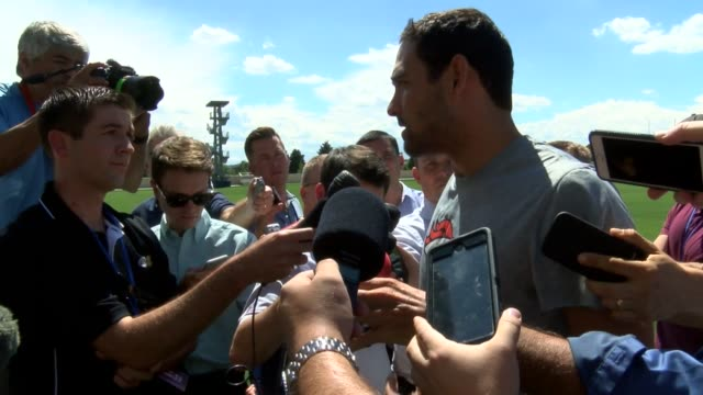 Denver Broncos quarterback Mark Sanchez spoke to the media in a press conference after practice about not earning starting job