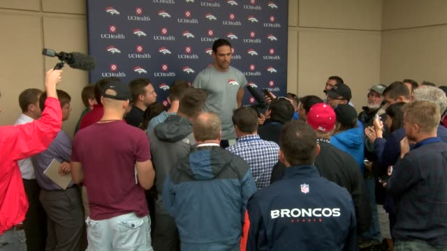 Denver Broncos quarterback Mark Sanchez was up beat at the press conference for quarterbacks after turning in a poor performance with two fumbles in...