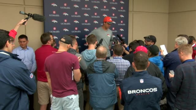 Denver Broncos quarterback Trevor Siemian talked about his opportunity to be the team's starting quarterback an what he thought about succeeding the...