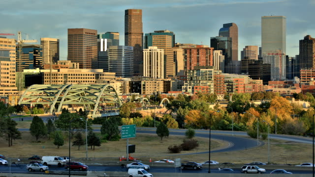 denver, co: day to night - denver stock videos and b-roll footage