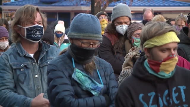 denver, co, u.s. - crowd of people gathering for vigil to honor victims of mass shooting. hundreds of people gathered outside of the boulder... - boulder stock videos & royalty-free footage