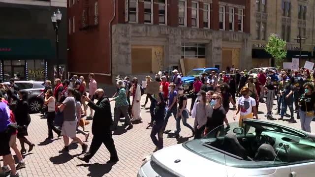denver, co, u.s. - george floyd protest on denver streets on sunday, may 31, 2020. - denver stock videos & royalty-free footage