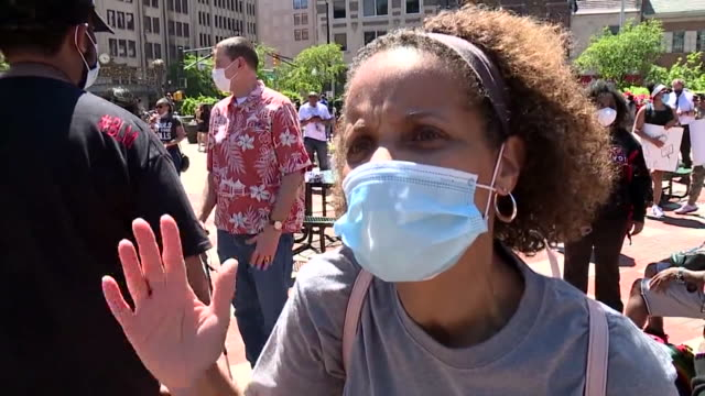 kdvr denver co us woman speaks about police reforms at george floyd protest on sunday may 31 2020 - 改革点の映像素材/bロール