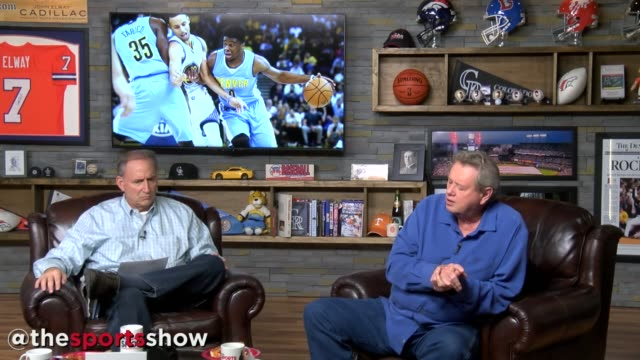 denver nuggets coach michael malone joins woody paige and les shapiro to discuss emmanuel mudiay and kenneth faried on the sports show on oct. 26,... - talk show stock videos & royalty-free footage