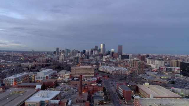 denver wide cityscape - colorado stock videos & royalty-free footage