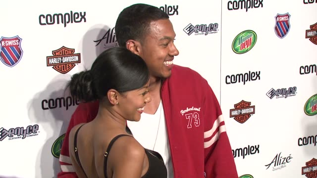 stockvideo's en b-roll-footage met denyce lawton and wesley jonathan at the 5th anniversary of complex magazine hosted by travis barker at area in west hollywood california on april 10... - travis barker