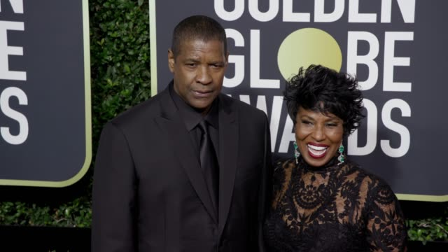 Denzel Washington and Pauletta Washington at the 75th Annual Golden Globe Awards at The Beverly Hilton Hotel on January 07 2018 in Beverly Hills...