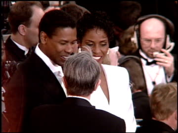 denzel washington at the 1995 academy awards arrivals at the shrine auditorium in los angeles, california on march 27, 1995. - 1995 stock videos & royalty-free footage