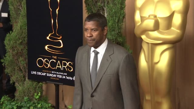 denzel washington at the 85th academy awards nominations luncheon in beverly hills, ca, on 2/4/13. - academy of motion picture arts and sciences stock videos & royalty-free footage