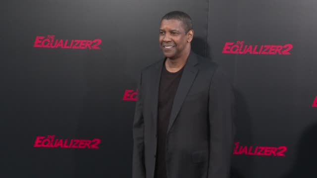 Denzel Washington at the 'The Equalizer 2' Premiere at TCL Chinese Theatre on July 17 2018 in Hollywood California