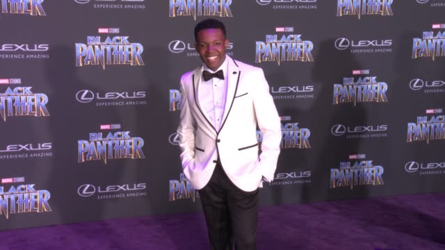 Denzel Whitaker at the Marvel Studios' 'Black Panther' World Premiere at Dolby Theatre on January 29 2018 in Hollywood California