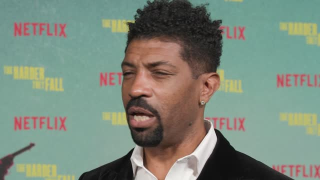 deon cole on being part of such an amazing cast, what he enjoyed about playing wiley escoe, how he prepped for the role, the importance of seeing an... - shrine auditorium stock videos & royalty-free footage