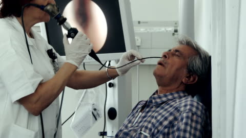 ent department in hospital. nasal endoscopy - endoscope stock videos & royalty-free footage