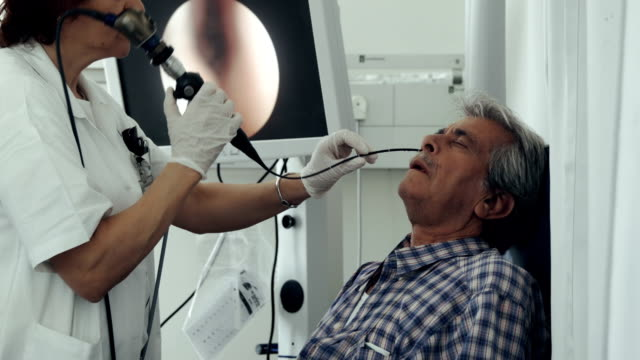 ent department in hospital. nasal endoscopy - nose stock videos & royalty-free footage