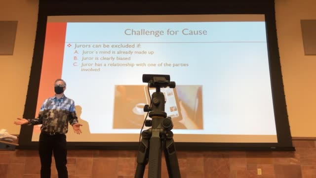 department of criminal justice chairman and professor dr. joel lieberman teaches jury decision making, a criminal justice class at unlv, amid the... - number 9 video stock e b–roll