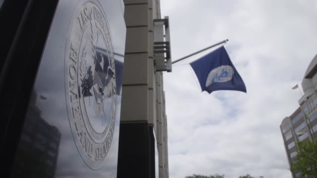 us department of homeland security wall emblem and flag - department of homeland security stock videos & royalty-free footage