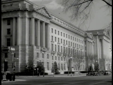 department of labor building & sign. int workers at desk graphs charts statistics on wall bulletins. women w/ ruler measuring graph w/ high's... - 1940 stock videos & royalty-free footage