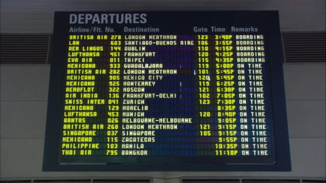 ms, departure board at los angeles airport terminal, los angeles international airport, los angeles, california, usa - lax airport stock videos & royalty-free footage