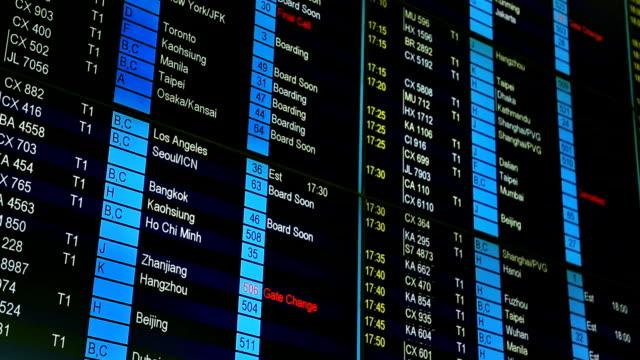 departure board - blackboard stock videos & royalty-free footage