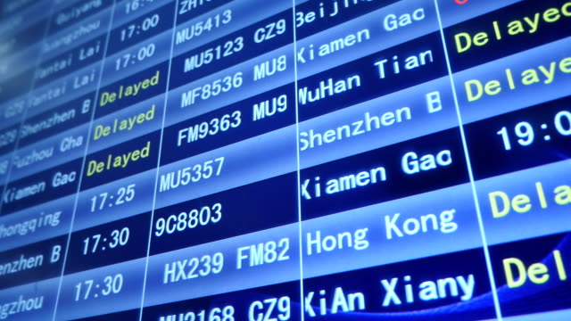 departure schedule board in china airport - control panel stock videos and b-roll footage