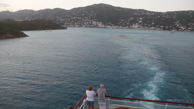 Departure view of Saint Thomas from a cruise ship