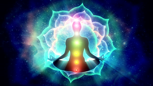 depiction of 7 chakras in human body - buddhism stock videos & royalty-free footage