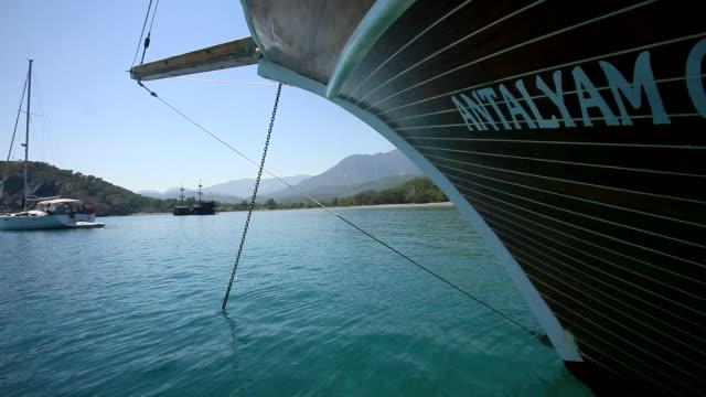 deployed anchor, antalya, turkey - västerländsk text bildbanksvideor och videomaterial från bakom kulisserna