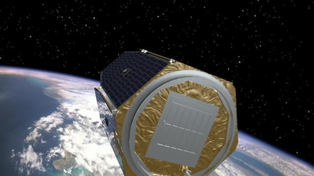 aim deploys its solar panels. - 人工衛星点の映像素材/bロール