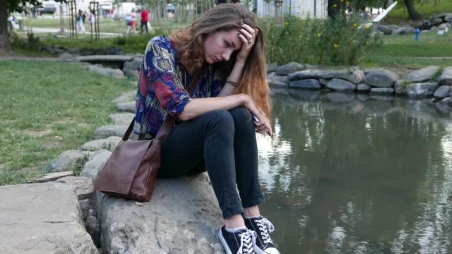 Ein deprimierter Mädchen