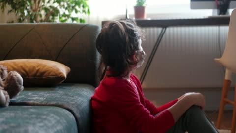 depressed kid during epidemic quarantine - turkish ethnicity stock videos & royalty-free footage
