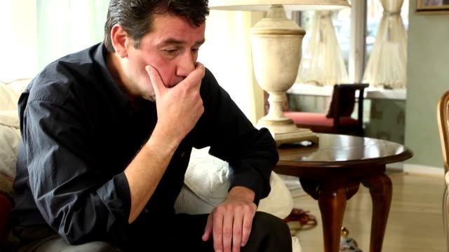 depressed latin man - blank expression stock videos & royalty-free footage