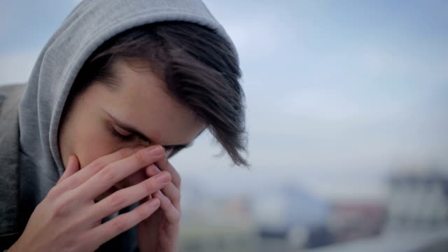 depression, teen depression, pain - frustration stock videos & royalty-free footage