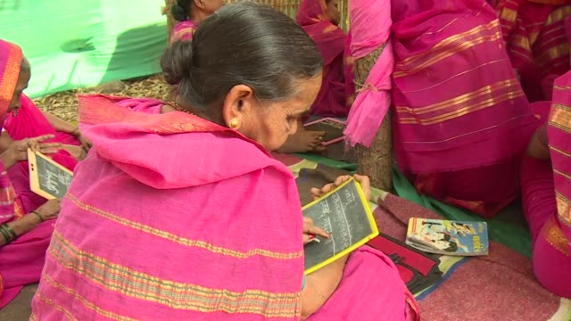 Deprived of an education as children a handful of Indian women most of whom are widows and aged between 60 and 90 are finally fulfilling a lifelong...