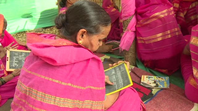 Deprived of an education as children a handful of Indian women most of whom are widows and aged between 60 and 90 are finally fulfilling a life long...