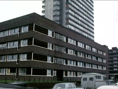 deptford tower block for the elderly 1972 - blocking stock videos and b-roll footage