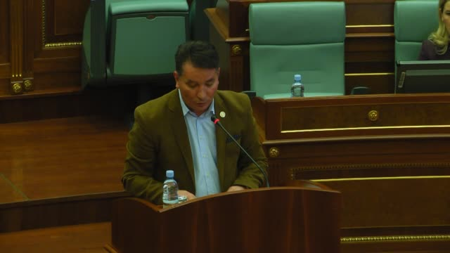 deputies of kosovo parliament hold a meeting after serbia submits request for the extradition of former kosovo prime minister ramush haradinaj who... - pristina stock videos and b-roll footage