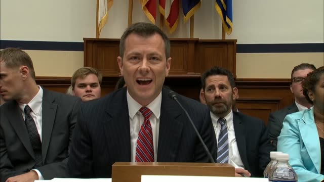 stockvideo's en b-roll-footage met fbi deputy assistant director peter strzok looks on as house judiciary committee chairman bob goodlatte announces a contempt citation would be... - voormalig