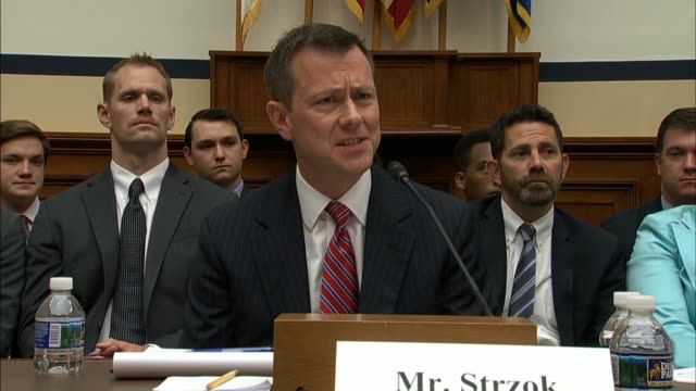 deputy assistant director peter strzok tells members of the house judiciary and oversight and government reform committees he understands why people... - talk show stock videos & royalty-free footage