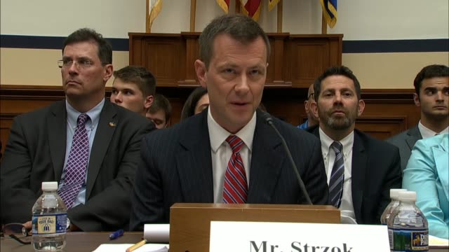 stockvideo's en b-roll-footage met fbi deputy assistant director peter strzok tells members of the house judiciary and oversight and government reform committees that his use of... - amerikaanse presidentsverkiezingen