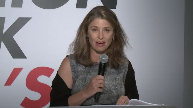 speech deputy mayor alicia glen talks about the new cfda logo the history of new york fashion industry announces support for the fashion... - fashion industry stock videos & royalty-free footage