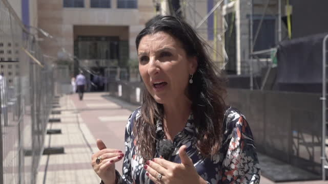 deputy mayor of jerusalem, fleur hassan-nahoum saying permits for palestinians to live in east jerusalem are now easier to obtain - smooth stock videos & royalty-free footage