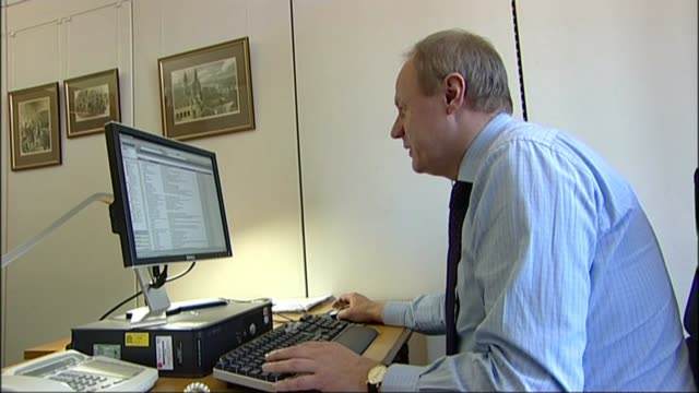 Deputy Prime Minister Damian Green sacked over porn allegations Police leak to be investigated LIB / TX INT Various shots of Damian Green MP working...