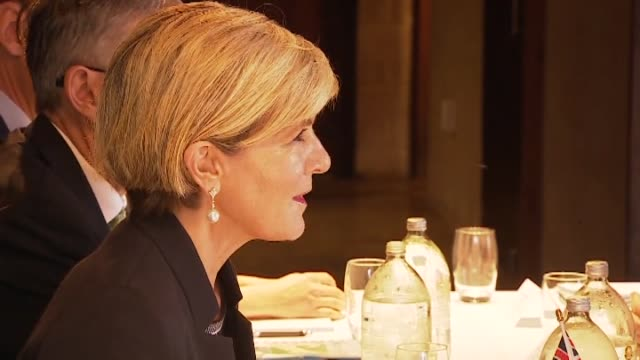 Deputy Prime Minister Winston Peters meeting with Australian Minister for Foreign Affairs Julie Bishop on Waiheke Island Auckland