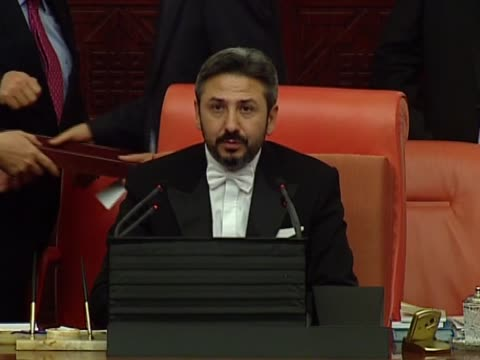 deputy speaker of the grand national assembly ahmet aydin speaks at the grand national assembly of turkey in ankara, january 12, 2017. turkish... - new age stock videos & royalty-free footage