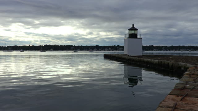 derby wharf light station in salem - salem stock videos & royalty-free footage